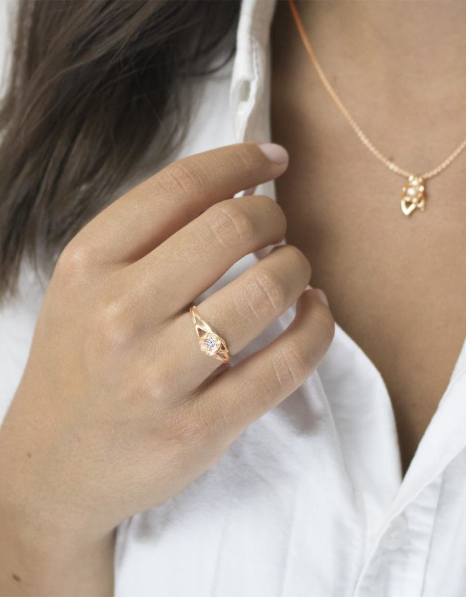 fiore Ring Rosé Gold Plated