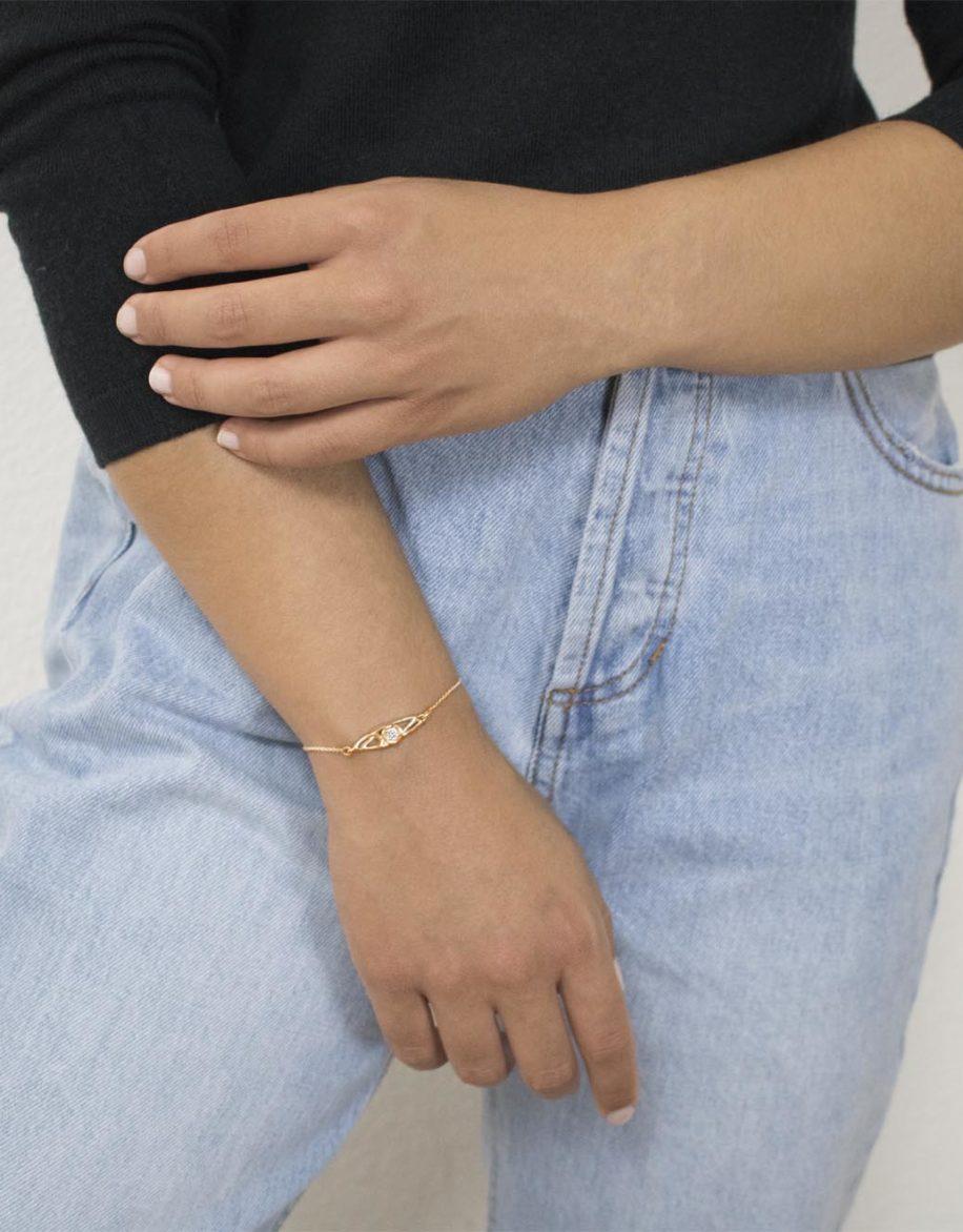 fiore Bracelet Rosé Gold Plated