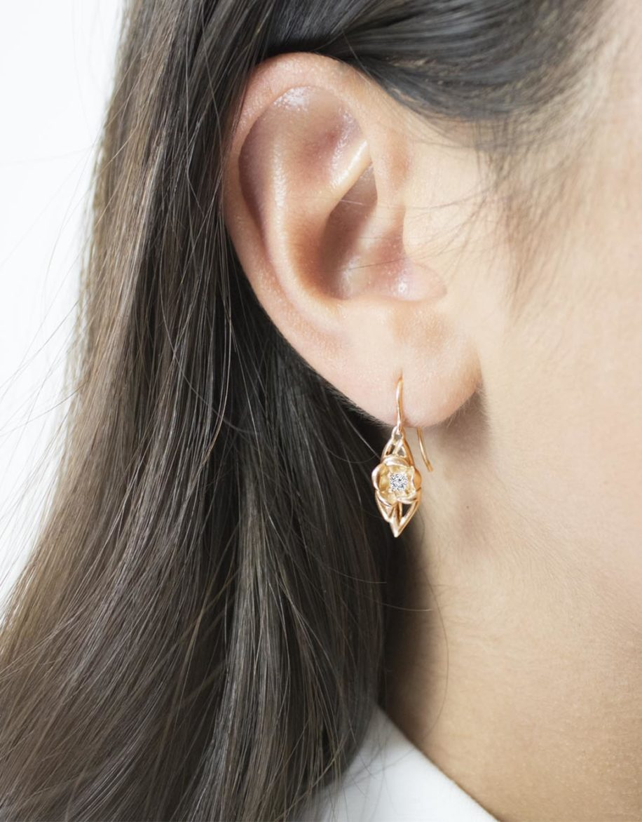 fiore Earrings Rosé Gold Plated