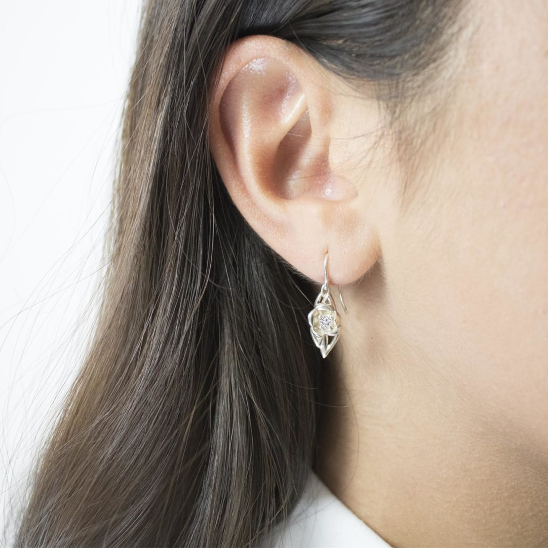 fiore Earrings Silver