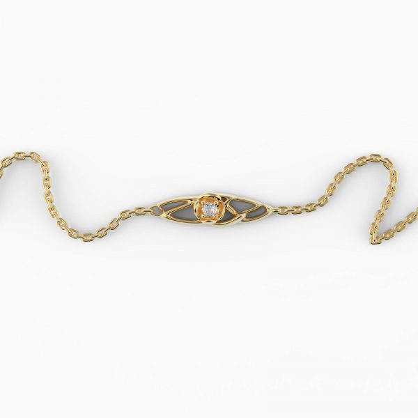 fiore Armband Vergoldet