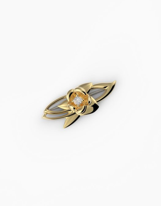 fiore Brooch Gold Plated