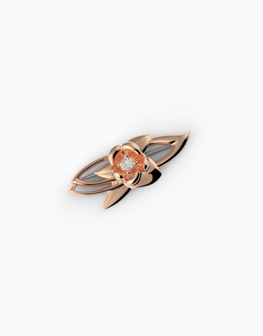 fiore Brooch Rosé Gold Plated