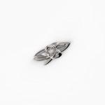 fiore Brosche Silber