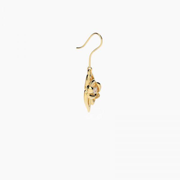 fiore Ohrringe Vergoldet