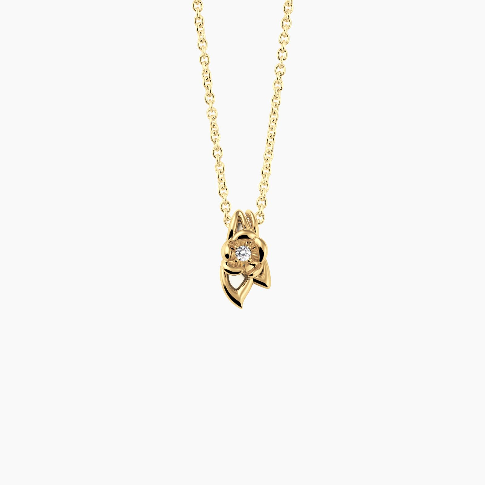 fiore Necklace Gold Plated - KAMPUSCH