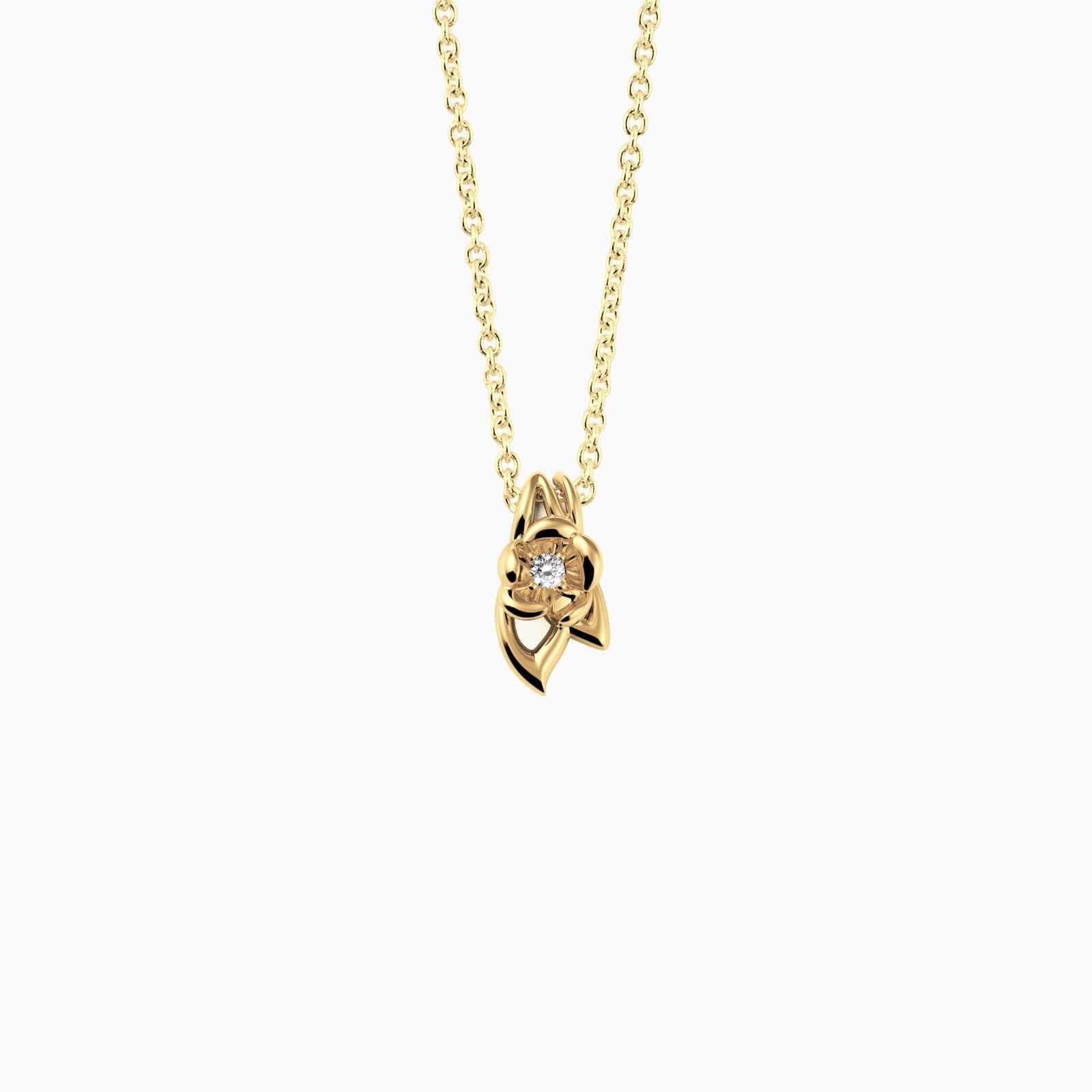 fiore Halskette Vergoldet