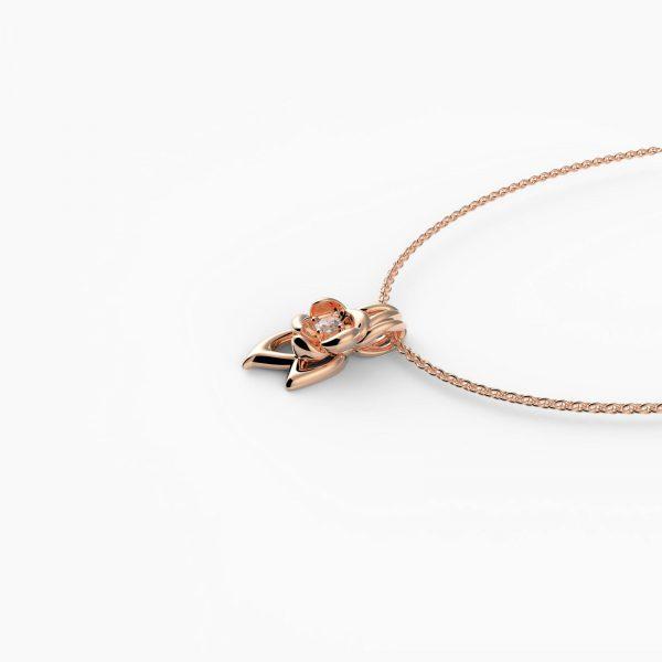fiore Halskette Rosé Vergoldet