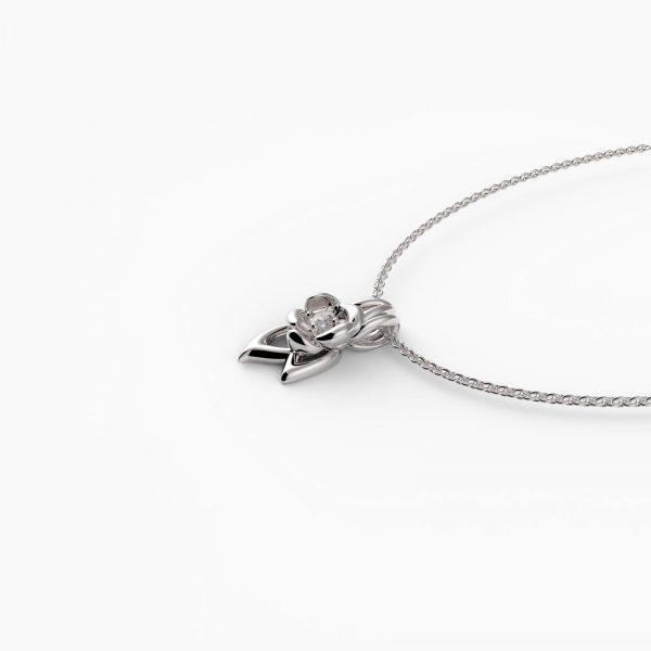 fiore Halskette Silber