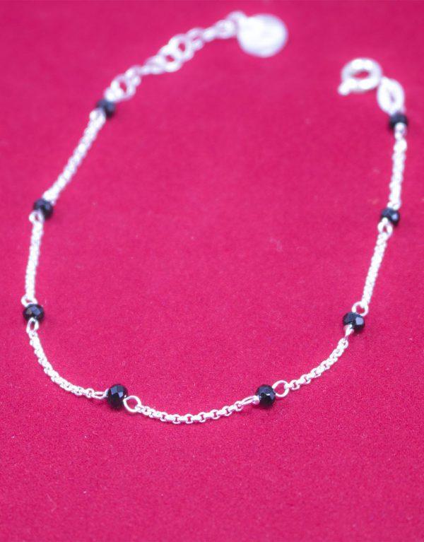 Silber Armband Mit Schwarzen Kristallen