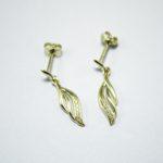 375 Gold Engelsflügel Ohrring mit Zirkonia